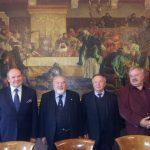 Spotkanie towarzyskie w restauracji Wierzynek - Kraków 2012 rok - od lewej autor, prof. Ryszard Tadeusiewicz, dr Stanisław Siewierski, dr Stanisław Stachowicz