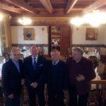 Spotkanie towarzyskie w restauracji Wierzynek - Kraków 2012 rok od lewej prof. Maciej Kaliski, autor, dr Stanisław Siewierski, dr Stanisław Stachowicz